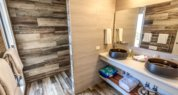 Kangaroo Island luxury accommodation;luxury accommodation on kangaroo island; Sea Dragon Lodge; Deluxe Eco Villa Bathroom