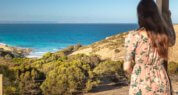 Kangaroo Island luxury accommodation ;kangaroo island seafront retreat; Sea Dragon Lodge; Deluxe Spa Villa Views