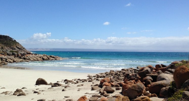Kangaroo Island accommodation; Kangaroo Island Seafront Accommodation; Private Beach; Pink Bay