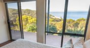 Ocean front luxury accommodation; seafront accommodation; Sea Dragon Lodge; Luxury Eco Villa View from the Bedroom